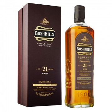 Bushmills 21 Years Old  Irish Single Malt Whiskey Release 2013
